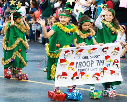 Парад Санта-Клауса в Майами